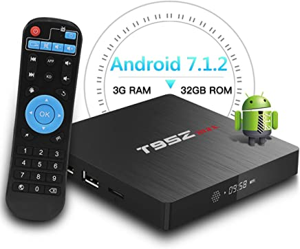 T95Z Max Android TV BOX, 3GB RAM 32GB ROM Android 7.1.2 Amlogic S912 Octa Core 64 bit A53 Processore scatola smart tv 4K Risoluzione 2.4GHz/5GHz Dual Band WiFi 1000 Lan Ethernet Bluetooth 4.0 - Confronta prezzi