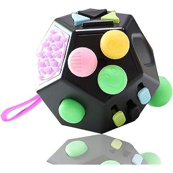 Rose Clair Id/éal pour am/éliorer Votre Concentration et Laisser Les Mauvaises habitudes Anti-Stress et Relaxant DAM DMAB0085C56 Spinner Cube Rubik Ninja Rubik
