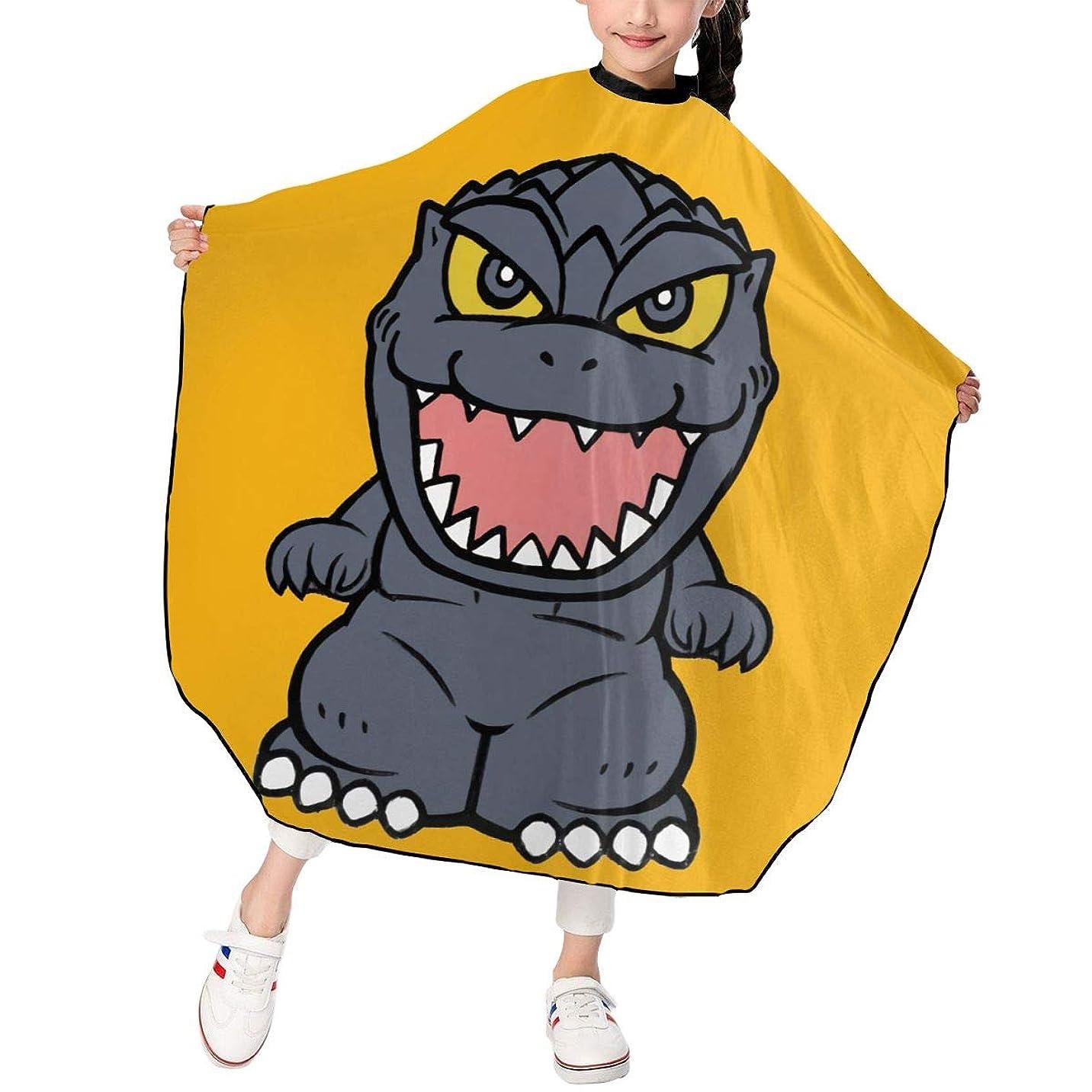 凍る許さない右PST-LF Godzilla ゴジラ 恐竜 散髪ケープ 散髪マント ファミリー理髪 折りたたみ式 ヘアカットケープ ヘアダイケープ 自宅 サロン 防水 散髪マント 幼児用 ヘアカット 子供用ヘアカットケープ 散髪ケープ