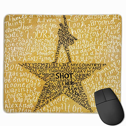 Hamilton Mouse Pad Gaming Mouse Mat Mousepad for Laptop, Computer & Pc 9.8 X 11.8 Inch