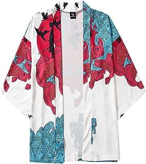 Camiseta Hombre Cárdigan con Estampado de Colores Ropa de Playa de Verano Ropa de Hogar Camisa Casualtops Slim Fit para Ho...