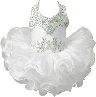 ChengCheng Baby Girls Halter Cupcake National Infant Pageant Dresses