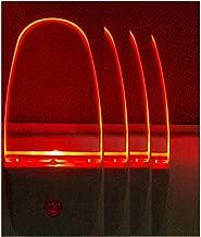 Plug in LED Night Light Lamp 4 Pack with Light Sensor RED