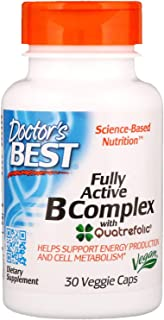 Best Fully Active B Complex, 30 Vcaps by Doctors Best (Pack of 2)