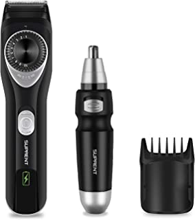 Beard Trimmer SUPRENT Adjustable Beard Trimmer, All-in-one Beard Trimmer for Men with Li-ion Battery, Fast Charge, Long-La...