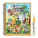4 Pages Livre de coloriage de l'eau Magique Livre de coloriage de l'eau pour Enfants avec Le Stylo de l'eau Livres de Dessin de l'eau pour Les Enfant (#4)
