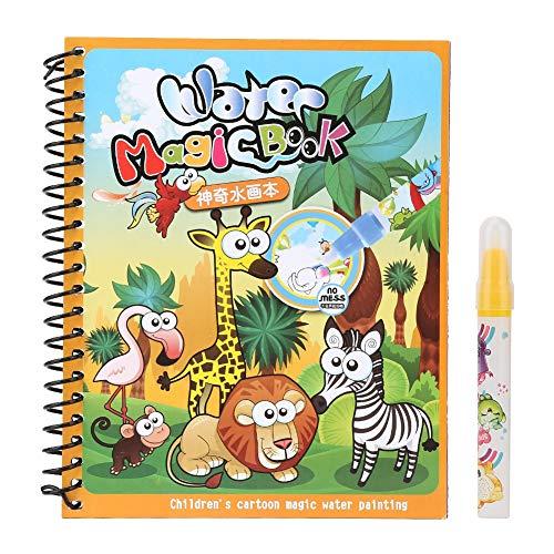 Hztyyier Libro da colorare Magico dell'Acqua, Libro Magico da colorare dei Bambini dell'Acqua con i Libri di Disegno dell'Acqua della Penna dell'Acqua per i Bambini
