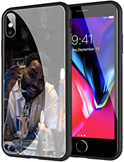 GUOZHAO Phone Case iPhone XR,GZA-41 Kevin Gates Tempered Glass Back Black Cover and Soft Silicone Rubber Bumper Frame for Scratch-Resistant and Anti-Scratch Absorption