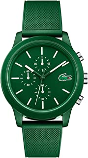 Lacoste Mens Quartz Watch, Chronograph Display and Silicone Strap 2010973