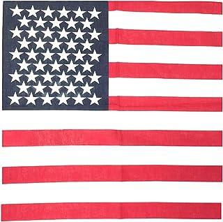 Kustom Factory Bandana Bandiera Americana Blu e Rosso Cotone 55 x 55 cm