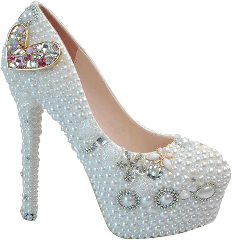 TDA Women's Shiny color Diamond Wedding Stiletto Pumps
