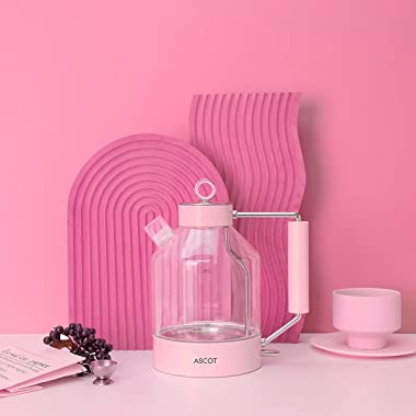 Electric Kettle, ASCOT Glass Electric Tea Kettle 1.6L, 1500W, Stainless Steel Tea Heater & Hot Water Boiler, Borosilicate