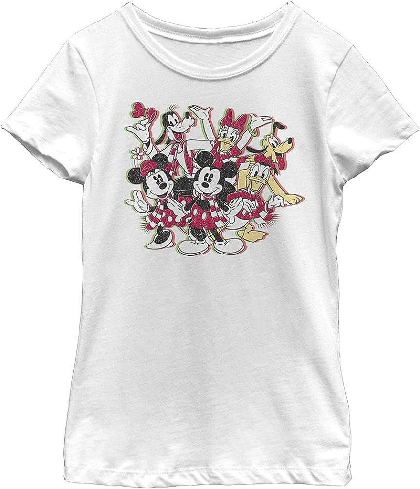 Disney Characters Sensational Holiday Girl's Solid Crew Tee