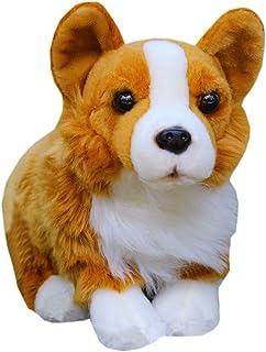 TAMMYFLYFLY Lifelike Corgi Beanbag Plush Animal Figure 12 Inch Corgi Dog Plush Stuffed Animal