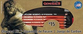 General Pencil Charcoal Kit, 12-Piece