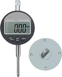 AUTOUTLET Digital Dial Indicator Sonde Digital Cadran Indicateur 0,01 mm/0 cm Gamme DTI..