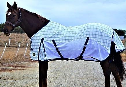RUMANI Cool Wave Ripstop Polycotton & Mesh Fly Summer Hybrid Paddock Horse Rug