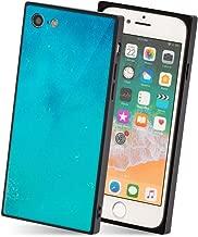 iPhone 8 ケース iPhone 7 ケース ソフト TPU シンプル 四角 薄型 ストラップ グラデーション Qi対応 カバー オーシャンブルー 「スクエアタイル」 iPhone8 / iPhone7,4.オーシャンブルー