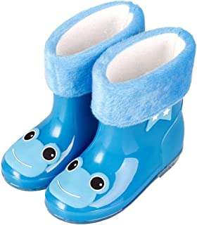 Twoy Anti-Slip Rain Boots for Children Kids Infant Baby Rainboots Cartoon Rubber Shoes