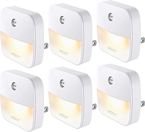 discount Vont 'Aura' LED Night Light (Plug-in) Super Smart Dusk to Dawn popular Sensor, Auto Night Lights Suitable for Bedroom, Bathroom, Toilet, Stairs, Kitchen, Hallway, Kids, Adults, Compact Nightlight (6 lowest Pack) outlet online sale