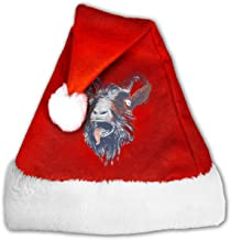 Santa Hat Rock Beast Velvet Comfortable Christmas Hat with Plush Trim for Teenagers Adults Kids
