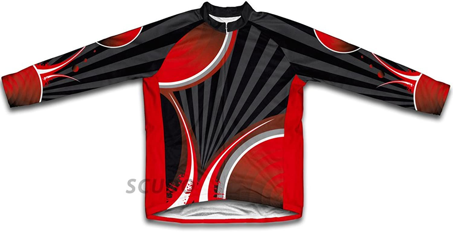 Black Red Striker Winter Thermal Cycling Jersey for Women