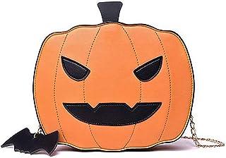 WangsCanis Halloween Kürbis Tasche Halloween Süßigkeiten Tasche Kleine Umhängetasche Damen Klein Halloween Tasche Kürbis S...