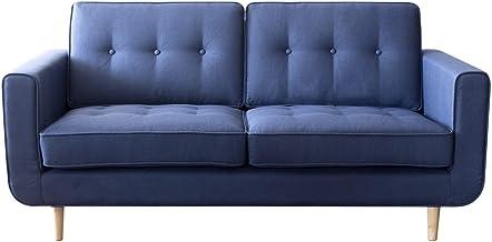 エア?リゾーム ソファー 2人掛け おしゃれ ローソファー ポケットコイル 2.5Pデザインソファ LUSIO(ルシオ) ブルー