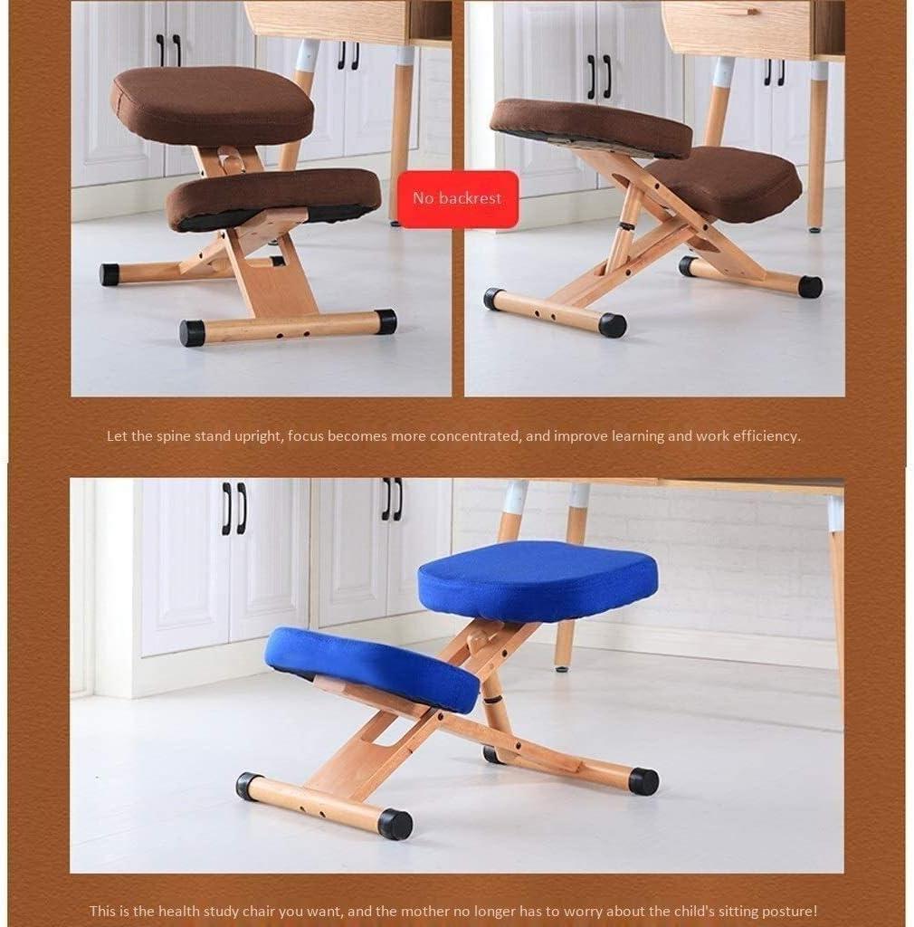 YLJYJ Chaises à Genoux Chaise de Bureau Ergonomique Chaise de Fitness Chaise d'ordinateur Chaise de Bureau Genouillères Coussin élastique élevé (Couleur: Marron) Khaki