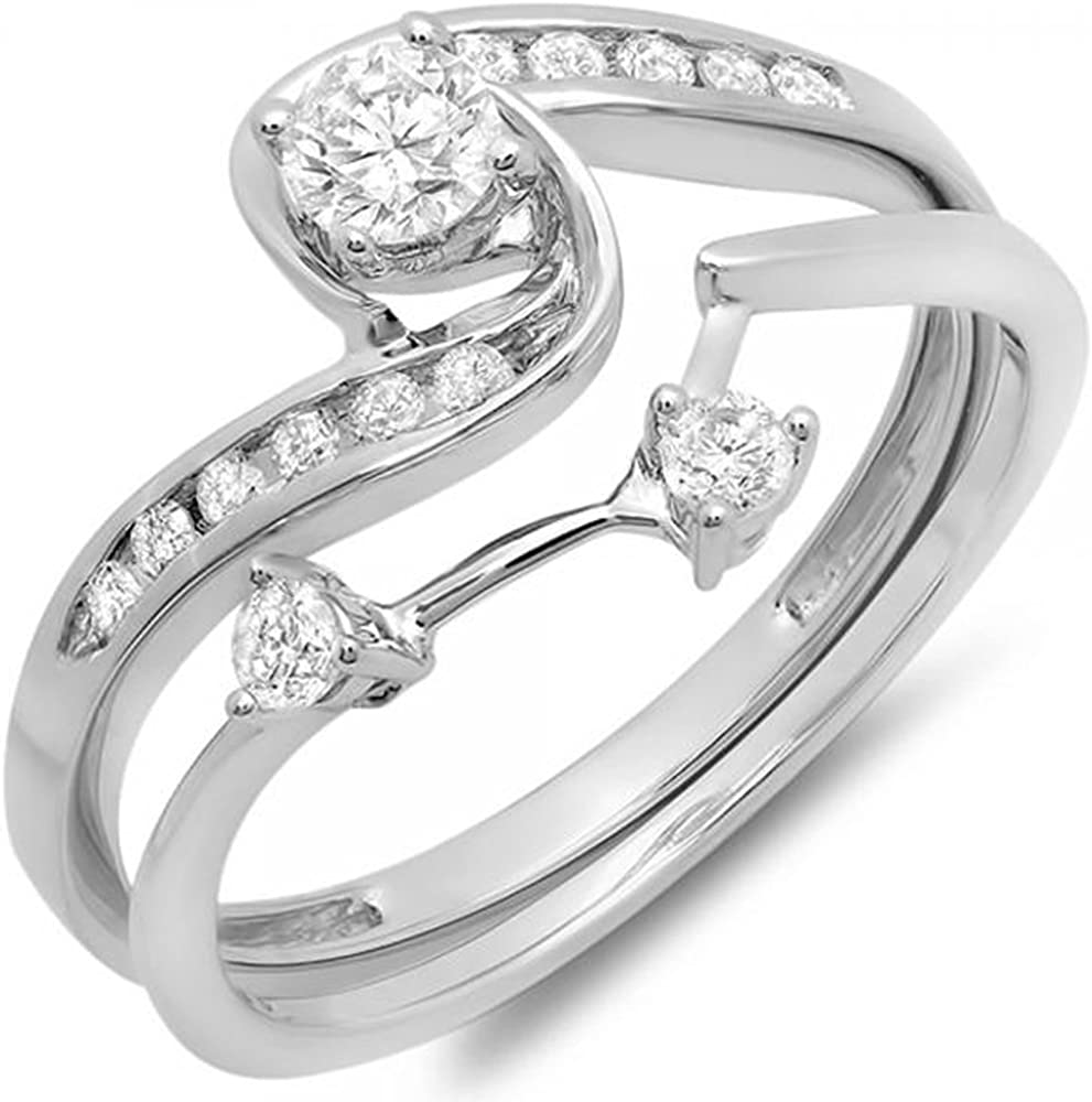 New Orleans Mall Dazzlingrock Same day shipping Collection 0.50 Carat ctw Swirl 10K Diamond Round