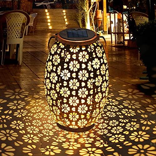 Solarlaterne für Außen, FOCHEA LED Solar Laterne Garten Solarlampen Außen Solarleuchten Wasserresistent Garten Hängeleuchten für Außen, Hochzeit, Party, Gartendeko