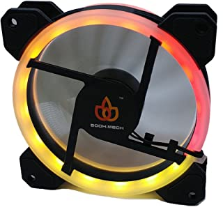 BODHiMECH 120mm RGB Programmable Multi-Color LED PC Cooling Silent Case Fan For PC Computer Case (1X Fan Only)