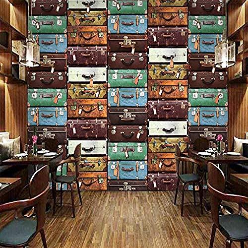 XHXI Tamaño Maleta europea Pintura de pared Papel tapiz 3D Sala de estar Sofá Fondo de TV Pared Decoración par Pared Pintado Papel tapiz Decoración dormitorio Fotomural sala sofá mural-300cm×210cm