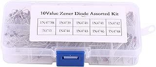 200pcs Zener Diodos 10 Valores en un Conjunto con Caja 1N4738~1N4748