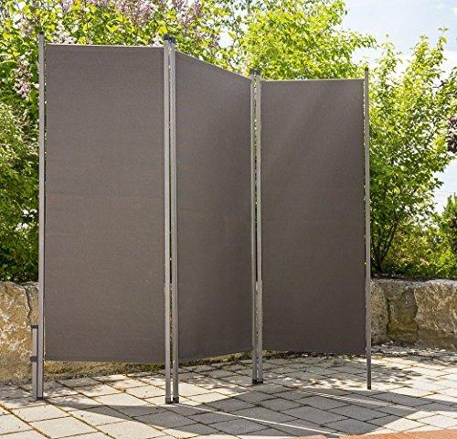 Outdoor Paravent anthrazit - praktischer Sichtschutz Sonnenschutz für draussen