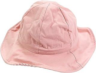 48-50cm 赤ちゃん 帽子 両面着用 調整可能 シンプル無地 可愛い 人気 ユニセックス (ピンク)