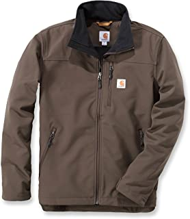 CARHARTT Giacca weathered canvas SHIRT JACKET Frontier Brown