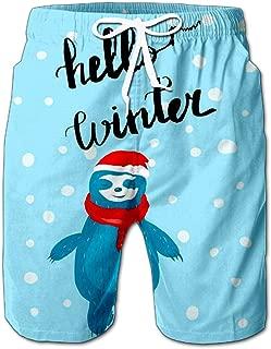 Cartoon Character Grey Tabby Cat Poses Men Swimwear Volley Pants Pocket