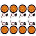 "Pack of 8pcs 4"" Round Truck RV Trailer Tail Light Rubber Cover Wiring Plug Kit"