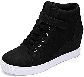 Botas Mujer Invierno 2019 Riou Botines Cuña Zapatillas Deporte Cálido Zapatos de Cordones Vintage Fondo Grueso Chica Zapat...