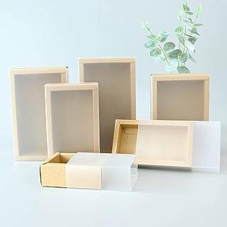 Kraftpapper presentförpackning, PVC -genomskinligt fönster, förpackningslåda i svart låda, godisbröllop utsökt svart karto...