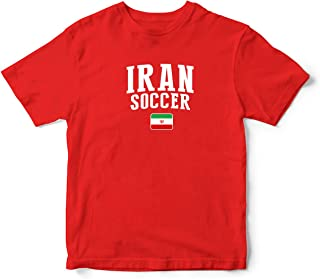 nobrand Iran World Cup T-shirt Country Soccer For Kids & Mens Red