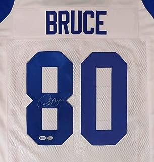 St. Louis Rams Isaac Bruce Autographed White Jersey Beckett BAS Stock #148637