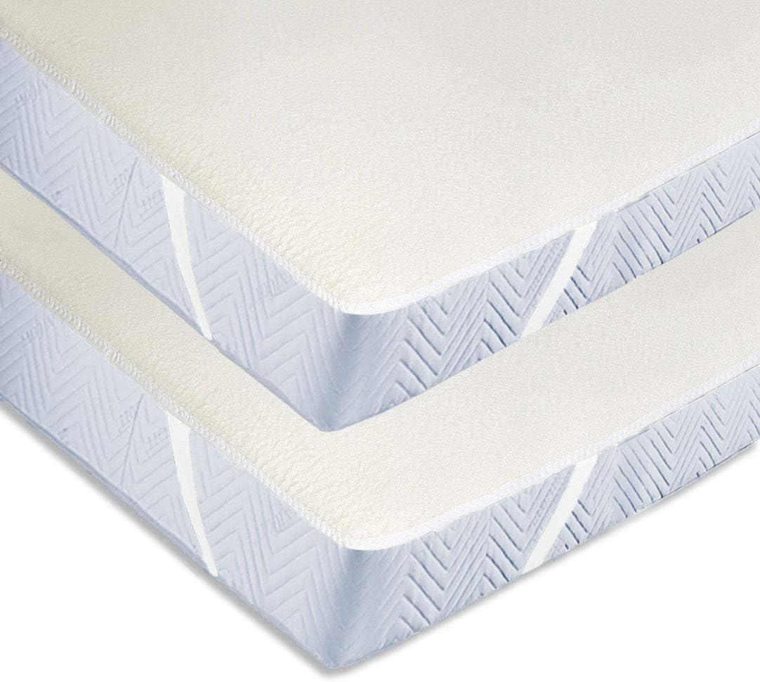 Zollner 2 protectores de colchón de algodón cama 90, 90x200 ...