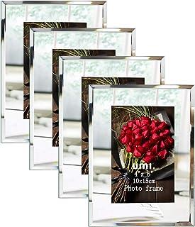 [Amazonブランド] Umi.(ウミ) 写真立て ハガキ サイズ シンプル 写真フレーム 額縁 4枚 セット
