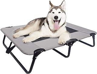 Macallen Cama para Perros Elevada Plegable, Lavable Cama Grande para Mascotas con Estructura de Metal y Malla Súper Transpirable, Verano Perro Gato Cama de Enfriamiento para Exterior Interior(Medio)