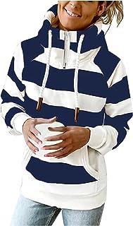Darringls Trui met capuchon voor dames, sweatshirt met lange mouwen, casual bovenstuk, modieus, sexy, oversized, blouse, t...
