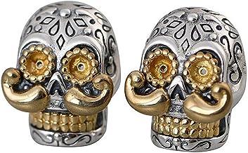 Oorstekers doodshoofd 925 sterling zilver voor man...