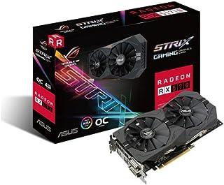 ASUS ROG-STRIX-RX570-4G-GA Radeon RX 570 4GB GDDR5 - Tarjeta gráfica (AMD, Radeon RX 570, 5120 x 2880 Pixeles, 1254 MHz, 1244 MHz, 5120 x 2880 Pixeles)