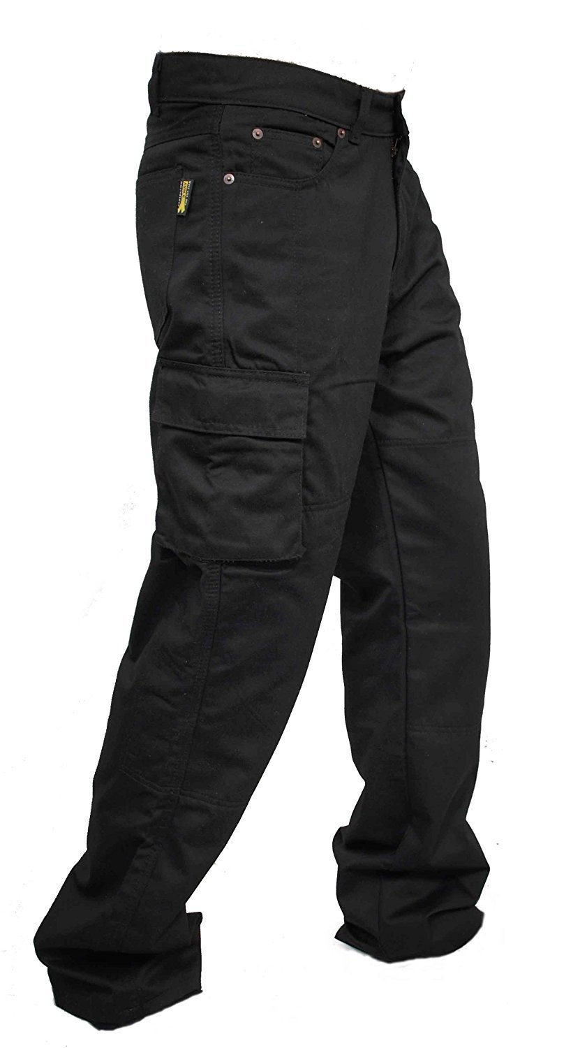 Navy Endurance Mens Cargo Combat Work Trouser with Knee Pad Pockets and Reinforced Seams Available in Black Grey//Black /& Black//Grey